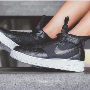 Nike Air Force 1 ultraforce black women's shoes